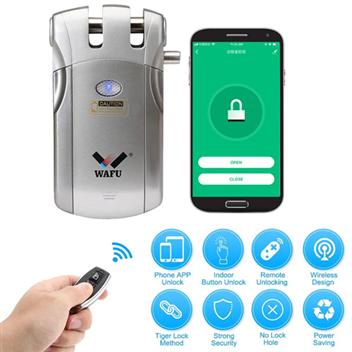 WAFU Smart Invisible WIFI Remote Control Security Door Lock with 315Mhz (WF-018W)
