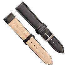 批量定制黑色针纹配普通扣真皮表带 三和兴表带