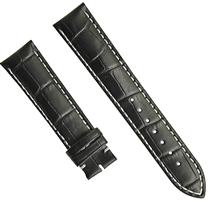 供应真皮竹节纹手表带全卜身皮表带半包边手表带高档真皮表带 三和兴表带