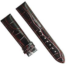 个性纹路定制 防水底头层真皮表带男士商务手表备用表带 三和兴表带