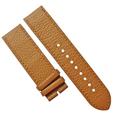 荔枝纹平身方尾智能手表配件头层真皮表带男女通用款 三和兴表带