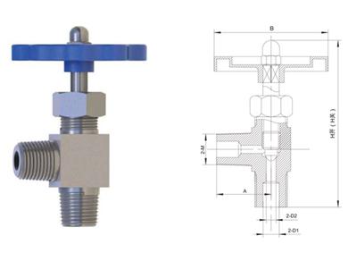 CJZ-04低温角式针型阀