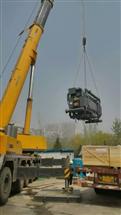 北京亦莊開發區柴油發電機組吊裝就位