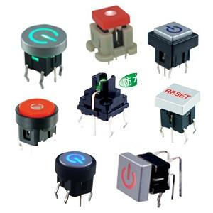 TS带led灯轻触开关,小家电控制面板轻触带灯开关,防水防尘防油轻触开关