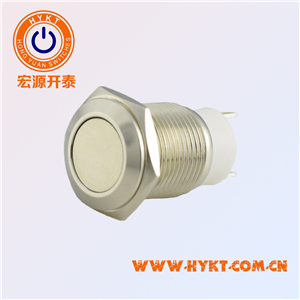 12MM金属按钮开关PBM12-11M-FN-NNN* (铜)
