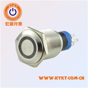防水金属按钮开关-PBM16-23Z-FS-RY12-S5S(X3)-厂家直供-价优PBM16MM-灯色多选