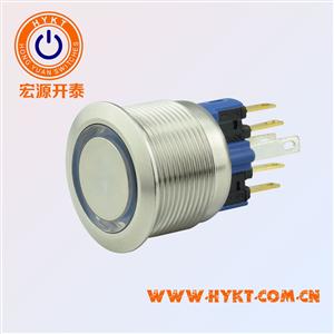 22mm带灯金属按钮开关PBM22-13M-FS-RU12-S5S(X3)