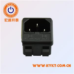 卡式二合一电源插座S-03F-12插座+保险座