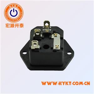 固式二合一电源插座S-03F-11插座+保险座锁螺丝电器插座