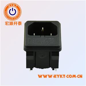 厂家直供双保险电源插座带保险丝待认证环保ROHS