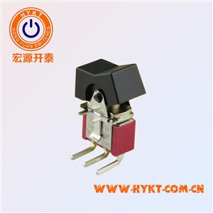 钮子开关R8015P-R11-2-Q-弯脚-三档两档功能-带认证