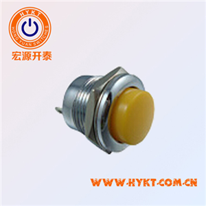 PB02圆形按钮开关,常开复位按键开关,直径16mm按钮开关