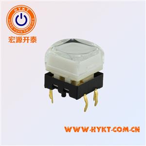 TS26系列带灯轻触开关有手感、双色灯,12*12MM控制台专用轻触带灯开关