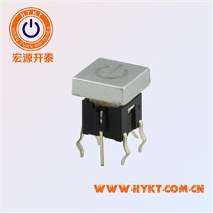 TS2方形盖带灯轻触开关吸油烟机控制板开关镭射透光电源标上盖符号可订做