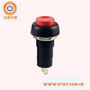 厂家直销常闭按钮开关PB10-C-R红色按钮复位功能开孔直径12MM环保台湾进口