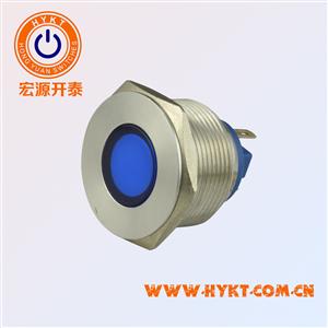 带灯金属按钮开关PBM19-FD-R指示灯  颜色多选焊线脚带认证