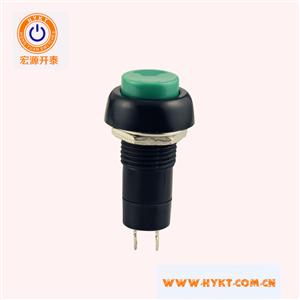 开孔12MM复位按钮开关PB10绿钮环保厂家低价销售