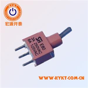 防水开关E8013 5A电流钮子开关台湾进口