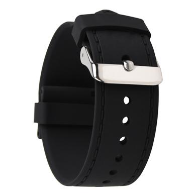 773# 仿车线槽平头硅胶表带超薄款手表带 三和兴表带