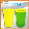 黃變綠冷飲變色杯粉   食品級變色塑料杯粉 有色變有色可定制顏色