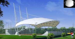 张掖武威庆阳公园小区膜结构车棚景观