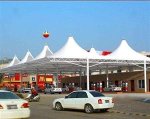 萍乡上饶承接膜结构车棚加油站景观台设计安装