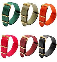 超薄款 配方钢扣一条过纯色尼龙表带  现有颜色任选  也可定制颜色 三和兴表带1