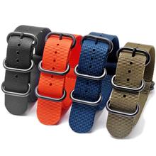 超薄款 配旦圈一条过纯色尼龙表带  现有颜色任选  也可定制颜色 三和兴表带1