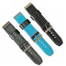 车皮革尼龙表带  单色长短带款  现有材料颜色任选  支持定制颜色  三和兴表带1