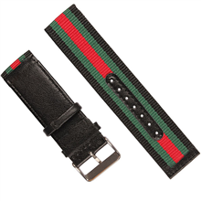 车皮革涤纶表带  间色长短带款  现有材料颜色任选  支持定制颜色  三和兴表带1