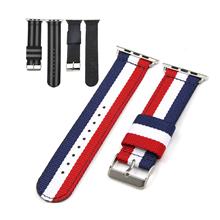 苹果连接器款涤纶表带  间色长短带款  三和兴表带DL109