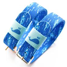蓝天白云小清新定制款超漂亮尼龙表带  颜色纹路随心配  三和兴表带NL135