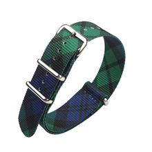 蓝绿格调定制款超漂亮尼龙表带  颜色纹路随心配  三和兴表带NL148