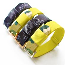几何图案定制款超漂亮尼龙表带  颜色纹路随心配  三和兴表带NL141