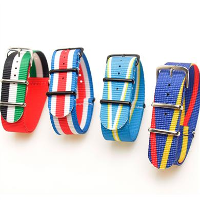 一条过涤纶表带  颜色纹路定制款  三和兴表带DL113
