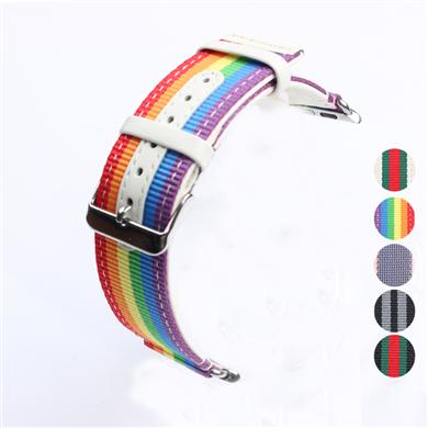 苹果连接器款涤纶表带  间色车皮革款  三和兴表带DL154