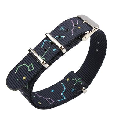 北斗七星图案定制款超漂亮尼龙表带  颜色纹路随心配  三和兴表带NL152