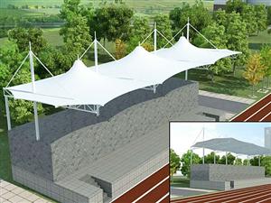 温州丽水义乌膜结构操场体育看台膜结构车棚