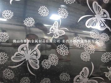 黑色蝴蝶花纹板