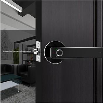 Safety Zinc Alloy Smart Electric Fingerprint Handle Door Lock for Home