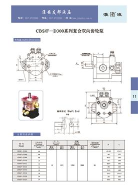 CBS/F-D300  Series Compound Bidirectional Gear Pump