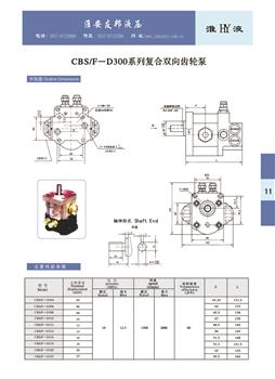 CBS/F-D300  Series Compound Bidirectional Gear Pump