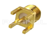 SMA Straight PCB Through Holes Mount Jack (Female) | Coaxial End