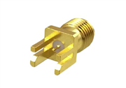 SMA Straight PCB End Launch Jack (Female) | Flat End