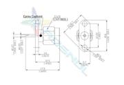 SMA Straight Panel Plug (Male) 2 Hole Flange | Solder End | Epoxy Captived