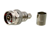 N Plug (Male) Cable Connector Crimp/Plug-in Contact for LMR-400 | Belden 7810A, 8214, 9913