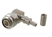 TNC R/A Plug (Male) Cable Connector Crimp/Plug-in Contact for LMR-200 | Belden 7807A