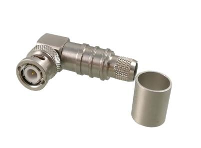 BNC R/A Plug (Male) Cable Connector Crimp/Plug-in Contact for LMR-400 | Belden 7810A, 8214, 9913