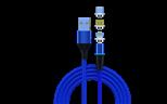 旋轉磁吸數據線 三合一適用蘋果安卓Type-c編織充電線 廠家直銷