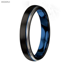 MTD0040 4mmTungsten Carbide Ring Blue Black Matte